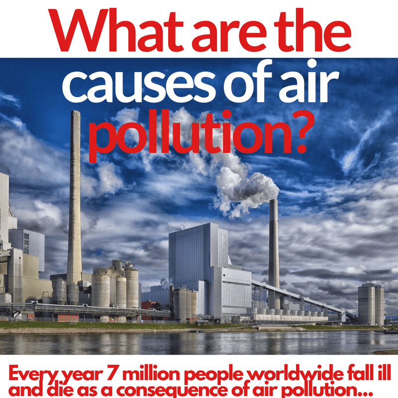 What are the causes of air pollution?